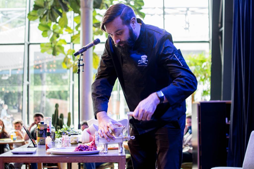 Démo culinaire avec Sébastien Kardinal